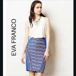 Eva Franco Saidia texture multi color pencil skirt